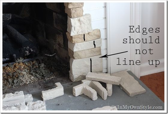 How to makeover a fireplace using AirStone (foam faux stones)
