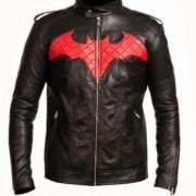 Batman is the awesome hero that everybody loves. Who fights crime and owns everyone even though he has no super powers. People love wearing his costumes. This Batman Leather Jacket is made with Genuine Leather with premium inner lining. It has the red Batman logo on the front, quilted viscose lining, branded YKK zippers with zipper closure and also a round neck collar. It has two waist line pockets and two inside pockets. Finally, the stitching is of perfect quality. This jacket is slim fit…