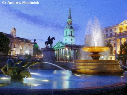 Trafalgar Square, where one of the scenes in RETRIBUTION takes place.