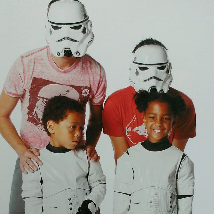 modern family.....gay fathers..stormtrooper family