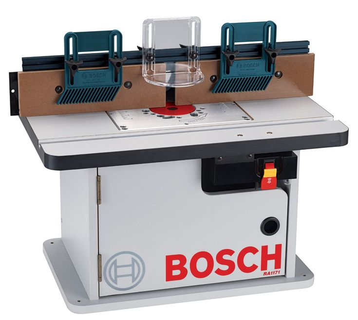 The Bosch RA1171 is Bosch's cabinet style router table, designed to be mounted on your workbench (like the RA1181). It's got an excellent fence, aluminum mounting plate and improved dust collection, all for under $150.