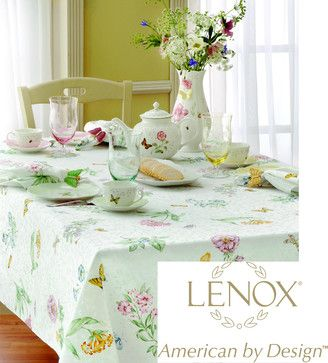 Lenox Butterfly Meadow Table Cloth contemporary tablecloths