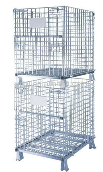 YD-K005/Durable wire mesh warehouse used foldig steel self storage container cage for sale $40~$100