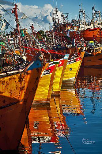 Puerto de pescadores, Mar del Plata,provincia de Buenos Aires, Argentina