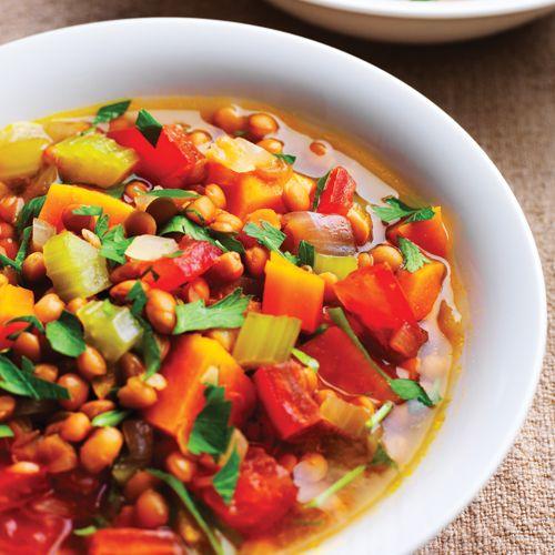 Lentil & Sweet Potato Stew - Clean Eating