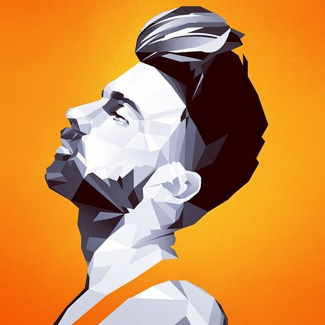 Retrato #polygons #asymmetric