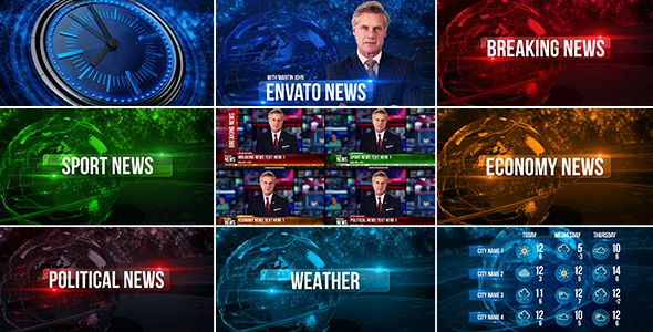 Broadcast Design News Package (News) #Envato #Videohive #aftereffects