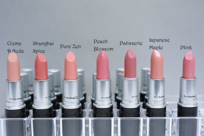 This is perfect, it shows so many MAC lipstick swatches!
