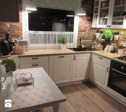 Metamorfoza kuchni i przedpokoju - Średnia zamknięta kuchnia w kształcie litery l w aneksie, styl prowansalski - zdjęcie od sliwka6