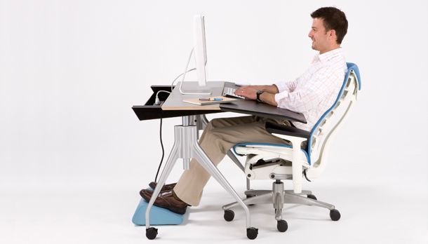 Have correct ergonomics in your office place for great support. #EmbodyChair #EnvelopeDesk #Footrest
