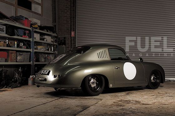 This is the most beautiful car I have ever seen. 1956 Porsche 356 Outlaw by Mark Banks, via Fuel-Press.