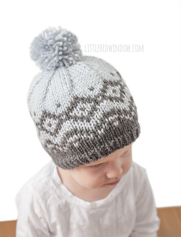 Winter Mountain Hat Fair Isle Knitting Pattern | Baby knitting ...