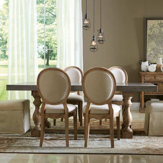 Riverside Sherborne Concrete Top Dining Table
