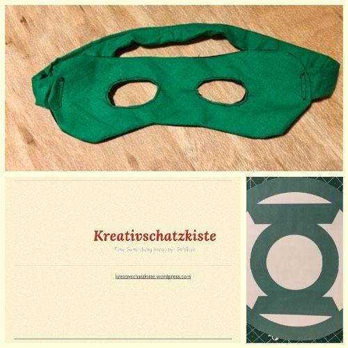 Passend zum gestern vorgestelltenKostüm gibts nun auch die Maske für Green Lautern. Dazu habe ich ein eignes Schnittmuster entworfen, das ihr HIER gratis downloaden könnt.