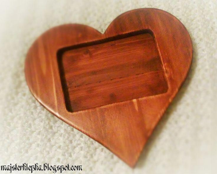 Majsterklepka - Zrób to sam: 167. Serce z drewna, czyli walentynkowa ramka na zdjęcie