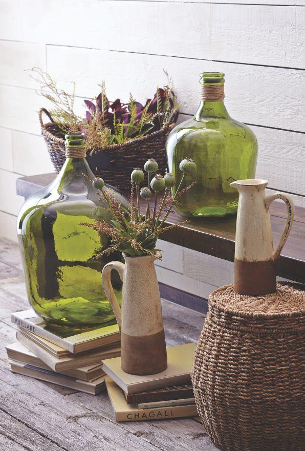 Green Seville Vase at Cost Plus World Market #WorldMarket Glasgow Fog Collection