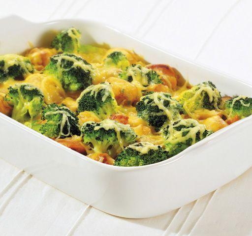 Zapiekanka makaronowa z mięsem i brokułami/ Pasta casserole with meat and broccoli, www.winiary.pl