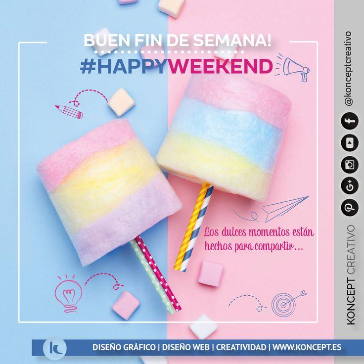Con ganas y esperando que llegue el #happyweekend  http://www.koncept.es #findesemana #finde #weekend #sweet #grandesmomentos #relax #relaxtime #desconectando #dulce #yallega #viernes #friday  #diseñografico #diseñograficobarcelona #diseñoweb #graphicdesigner #graphicdesign #barcelona #bcn #sigueme #diseñadorgrafico #color #vivalavida #viva #pin #pinterest