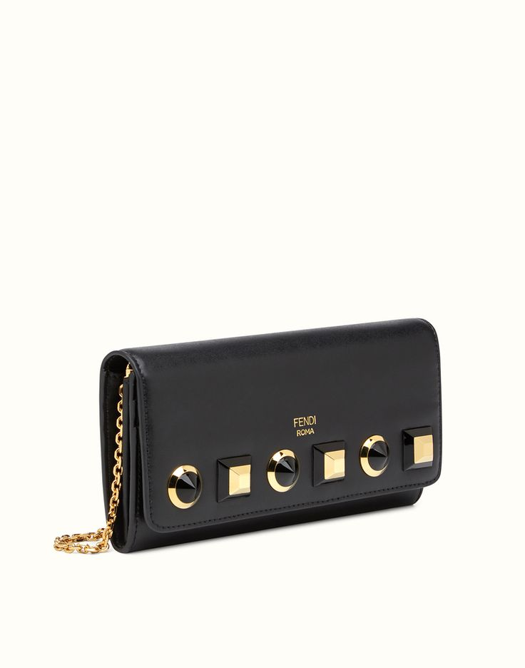 FENDI WALLET ON CHAIN - Gold Edition leather wallet