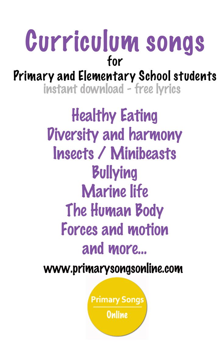 A collection of songs for common curriculum units: nutrition, insects and minibeasts, forces and motion, the human body and marine life for instant download.  www.primarysongsonline.com