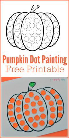 Free printable pumpkin worksheet. Perfect for do a dot markers, bingo markers, or painting with pom poms. fall | preschoolers | toddlers