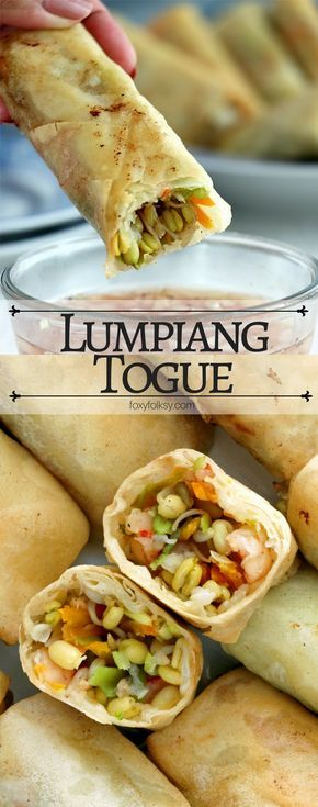 Try this Lumpiang Togue recipe for a delicious, easy and healthy spring rolls with mung bean sprouts and other veggies. | www.foxyfolksy.com