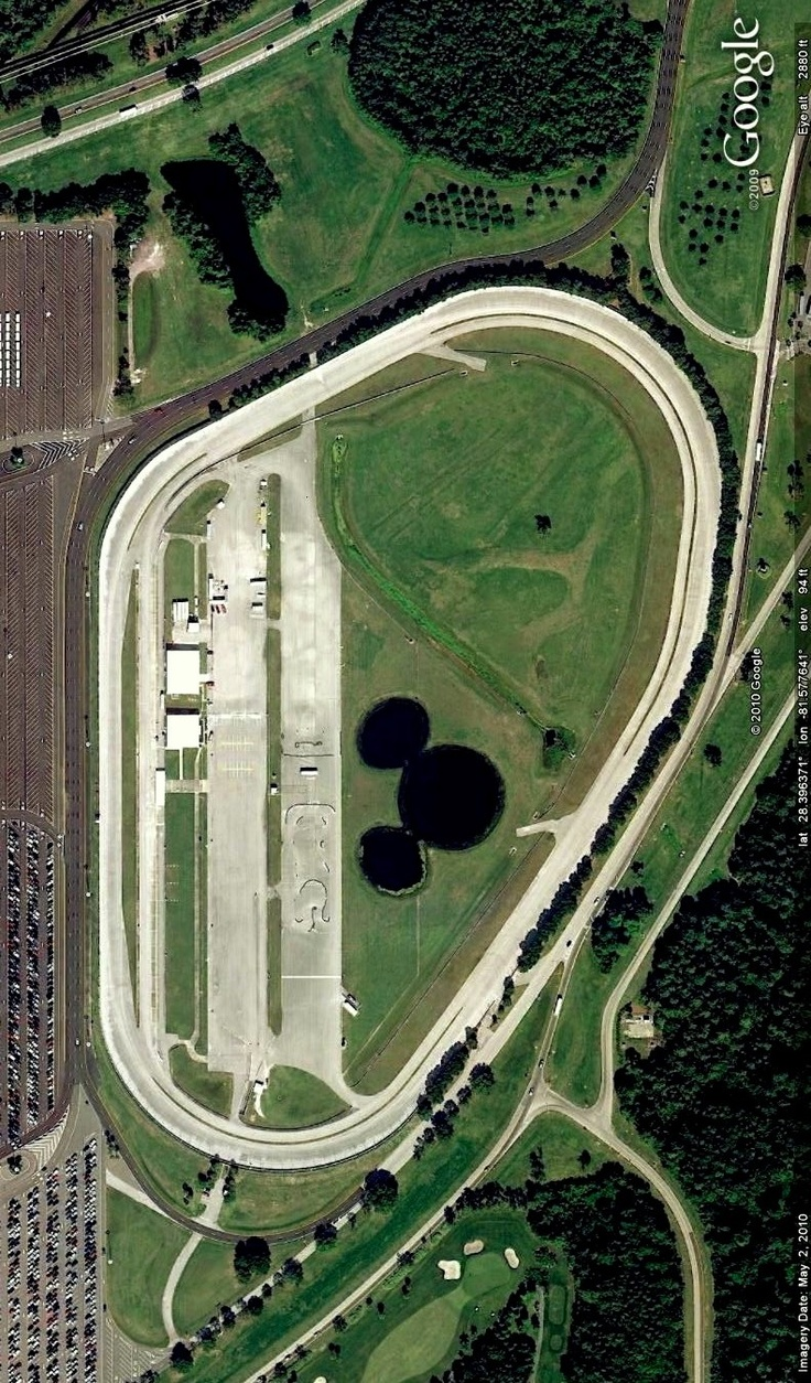 Walt Disney World Speedway, Florida. Image From Google Earth.