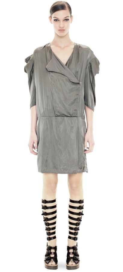 Just GD Slate Grey this dress is classy with great shoulder detail. $516