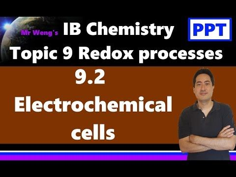 IB Chemistry Topic 9 Redox processes Topic 9.2 Electrochemical cells SL - YouTube