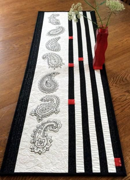 Advanced Embroidery Designs Modern Graphic Table Runner With