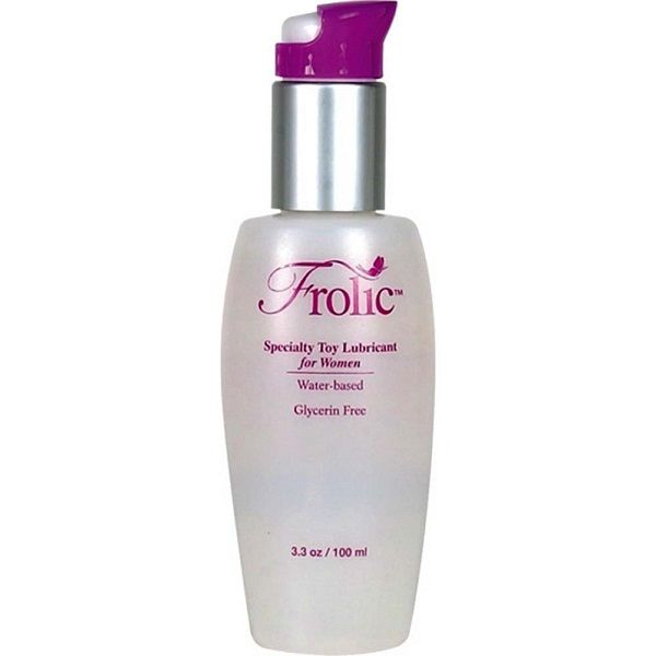 Frolic Waterbased Lubricant for Women Designed For Toys 3.3 oz - All lubes are not created equal. Frolic is unscented, glycerin free, water-based, and kicking it up a notch as the only lube available made specifically for use with sex toys! Placing your preferred amount of Frolic on your vibrator, dildo, beads or plugs prior to penetration will create a long-lasting smooth glide that few other lubes can claim.