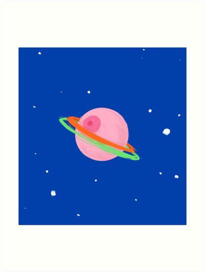 Titty Galaxy - Booblie planet - Funny digital art - Redbubble