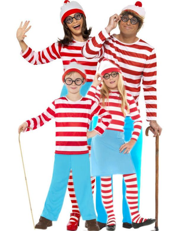 Where's Wally Family Costumes