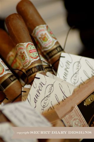 Cuban cigars with customised tags by http://www.secretdiary.co.za