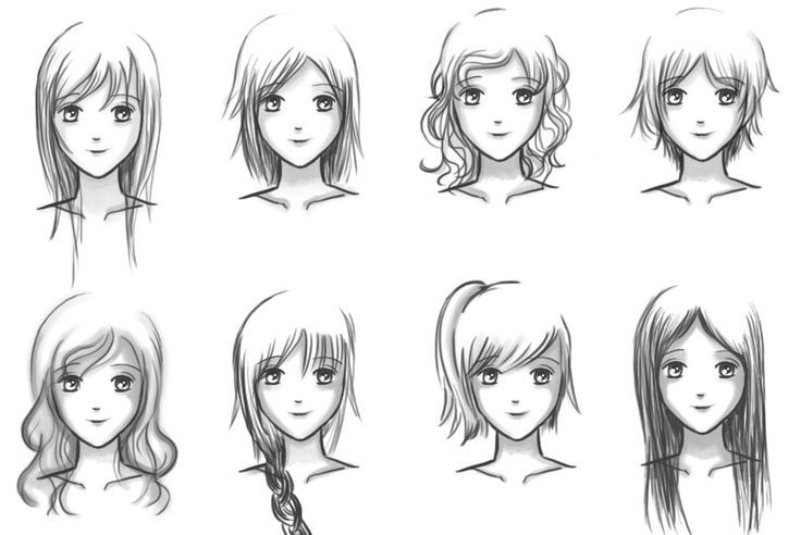 How To Draw Female Girl S Anime Hairstyles Anime Manga Manga Hair Girl Hair Drawing Female Anime Hairstyles