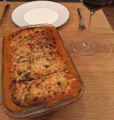 Melanzane alla parmigiana - gezonde, koolhydraatarme aubergine lasagne