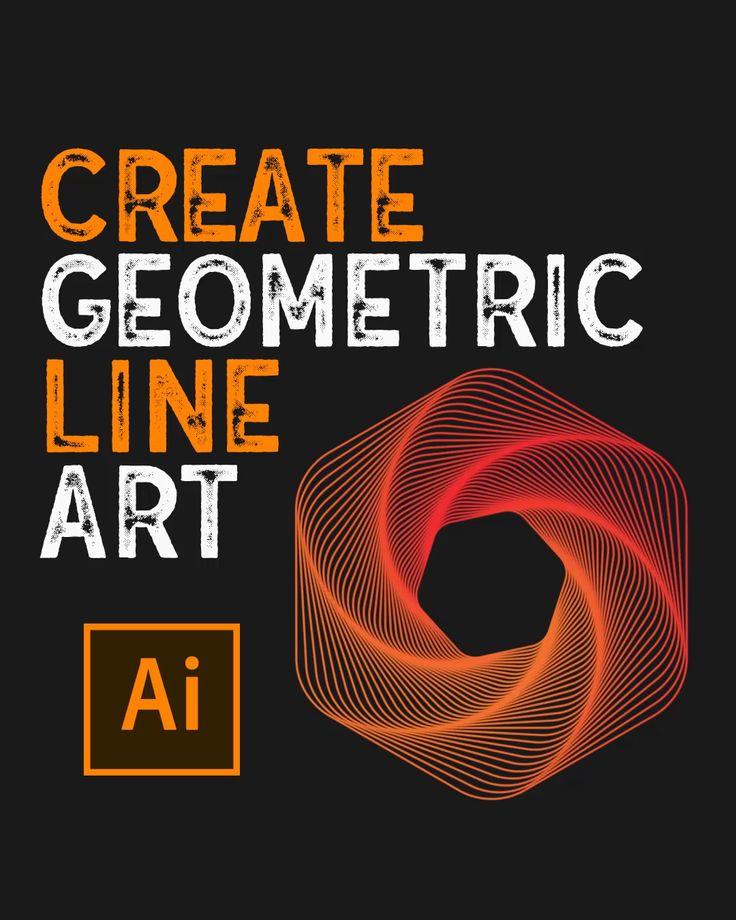 How to create geometric line art in illustrator video in