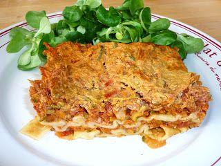 METS DELICE:  lasagnes aux légumes, light