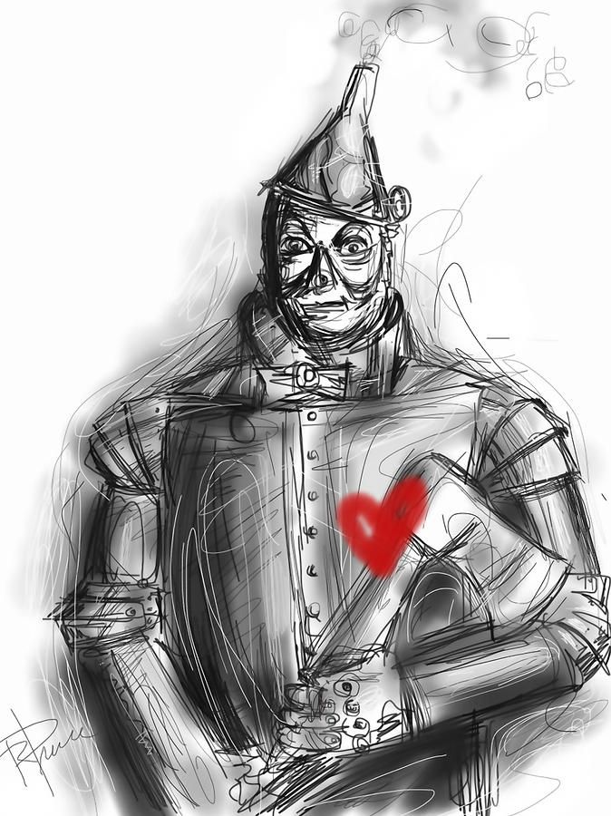 The Tin Man: You can't be like me, but be happy that you can't! I see pain but I don't feel it, I am like the old Tin Man...
