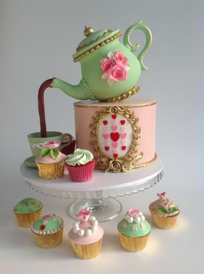 Tea Party Cake Images : 10+ best ideas about Teapot Cake on Pinterest Alice in ...