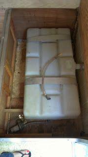 Basic vintage trailer fresh water plumbing @ Camp Candy, CA.
