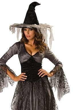 Spiderweb Capelet with Dramatic Collar - Unisex Halloween Costume for Witch, Worlock, Sorcerer, Vampire