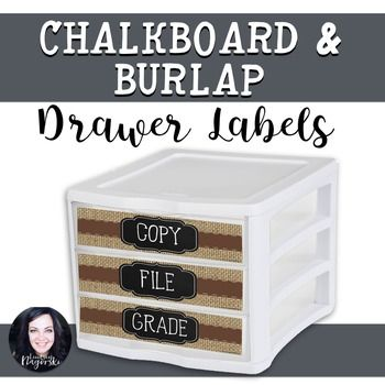 Looking labels to complement a rustic or coffee shop themed classroom?  Look no further!  Create an organized classroom with this trendy set of labels. Set includes labels that will fit a plastic 3 drawer organizer: Copy, File, Grade, and Hand OutNOTE:  For best quality when printing use media- photo settings.