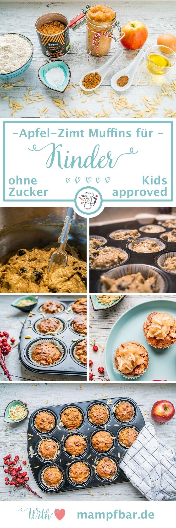 Gesunder Snack für Babys und Kleinkinder: Apfel-Zimt Muffins ohne raffinierten Zucker. Klick hier für das einfache Rezept und viele weitere leckere Ideen für deine ganze Familie.