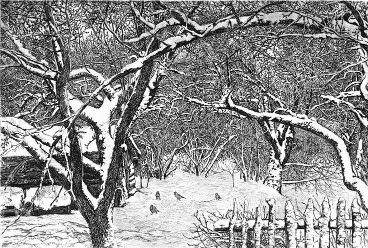офорт со снегом - Поиск в Google