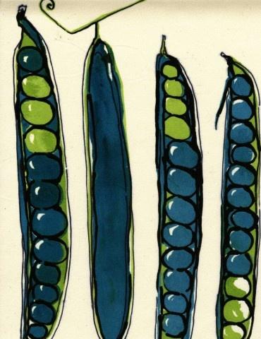 Graphics idea...vegetable series...silkscreen or linocut
