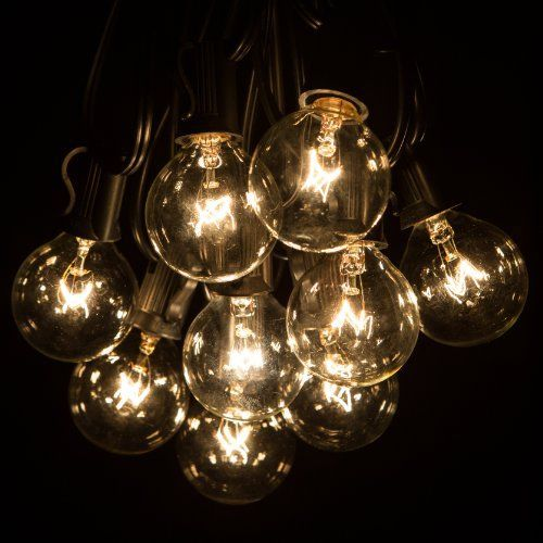 20 best vintage lights string images on pinterest light chain globe patio string lights with clear bulbs for outdoor string lighting mozeypictures Choice Image