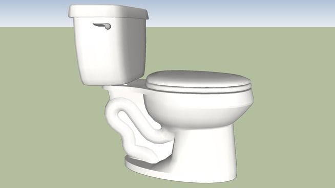 Large preview of 3D Model of Toilet