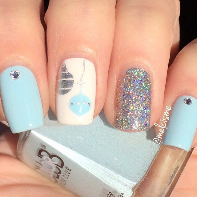 Thank you to @melcisme  for making this beautiful manicure! Get ornament stencil/decals at snailvinyls.com! - Ornament #NailVinyls snailvinyls.com