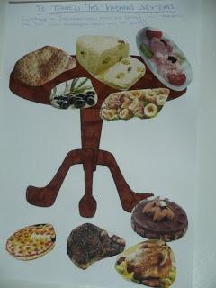 Maro's kindergarten: Το τραπέζι της Καθαρας Δευτέρας κολάζ & εποπτικό υλικό